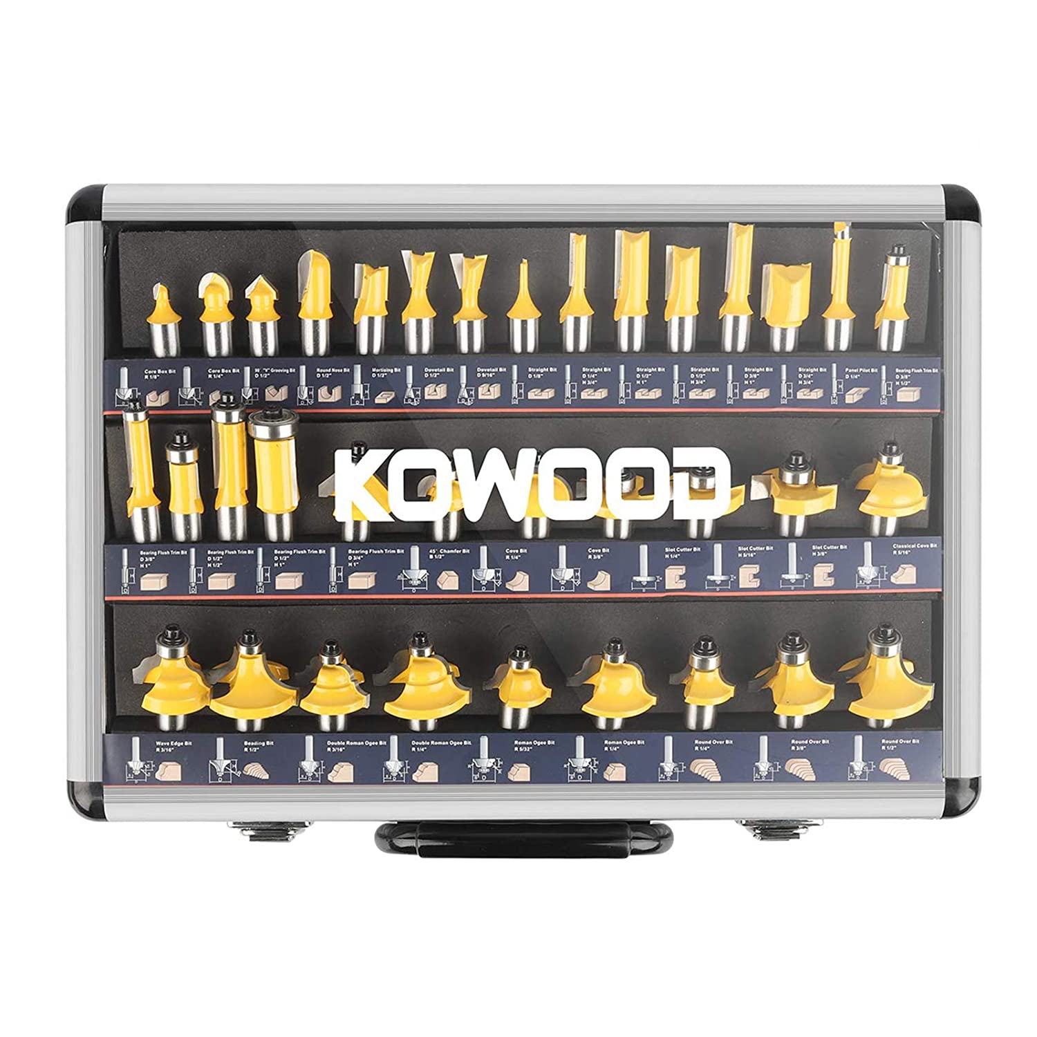 OFFicial store KOWOOD Router Bits Sets of 35B Pieces Wood 1 T Wholesale Shape 2 Inch Mill