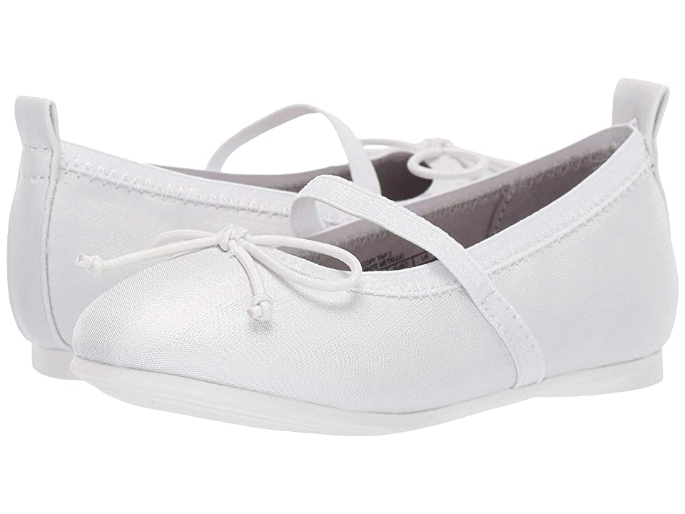 Kenneth Cole Reaction Kids Copy Tap 2 (Toddler/Little Kid) (White Metallic) Girls Shoes