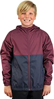 Boys Windbreaker Jacket Hooded Water-Resistant Soft-Shell Coat Kids
