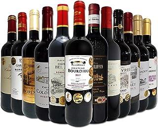 赤ワイン セット フルボディ ALL金賞受賞 ボルドー赤ワインの飲み比べセット 12本 赤ワインセット 本場フランス赤ワイン特集 京橋ワイン