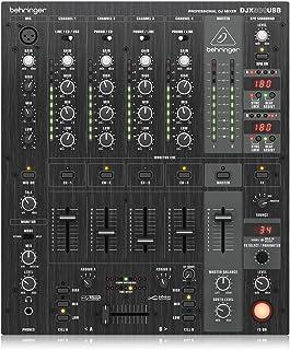 Behringer Pro Mixer profesional de 5 canales para DJ DJX900USB con Infinium crossfader VCA sin contacto, Efectos Digitales Avanzados y USB/interfaz de audio