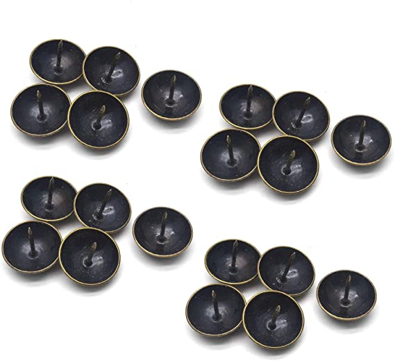 11 x 13 mm Paquete de 100 clavos de metal para tapicer/ía de cabeza redonda color negro