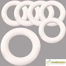 Styropor Halbring 50 cm 1Stück Styroporhalbring Ring flach Unterlage Kranz Römer
