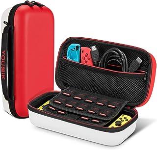 comprar comparacion Funda para Nintendo Switch - Younik Versión Mejorada Viaje rígida Case con más Espacio de Almacenamiento para 19 Juegos, P...