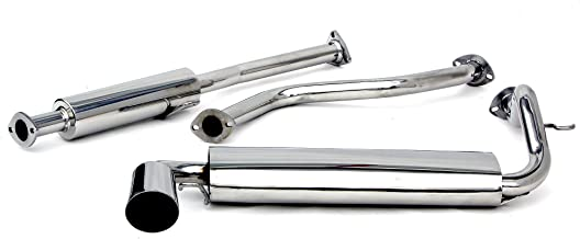 Yonaka Compatible with Honda Civic 88-91 EF Full Performance Catback Exhaust 3DR Hatch Only