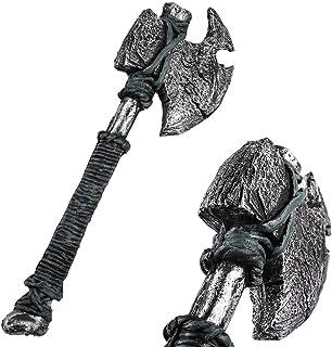 LOOYAR PU Foam Primitive Barbarian Single Handed Axe Weapon Toy Adult Toy for Berserker Soldier Warrior Costume Battle Pla...