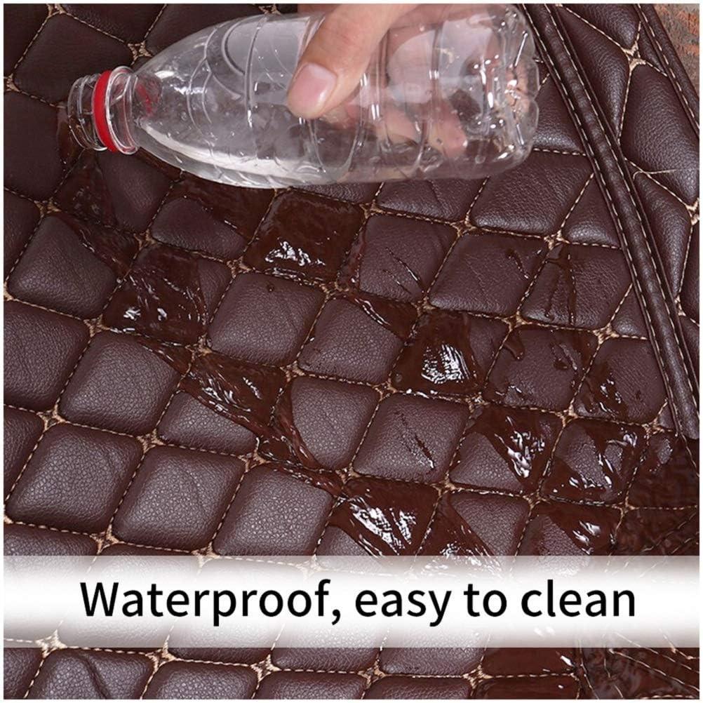 Car Custom Floor Mats for BMW X5 F15 5seat 2014-2018 Luxury Leather Waterproof Anti-Slip Full Coverage Liners Complete Set Black