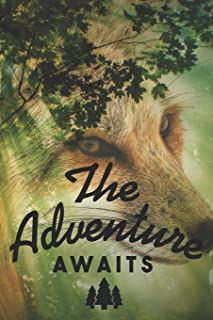 The Adventure Awaits: Cute Nature Landscape Notebook Journal Diary - wolf