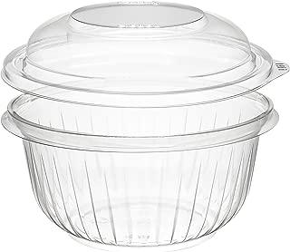 Dart PET16BCD 16 oz Clear PET Bowl with Dome Lid (Case of 252 Bowls w/Lids)