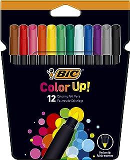 Bic Feutres Color Up. 0,8mm, Etui Carton de 12couleurs assorties 12st