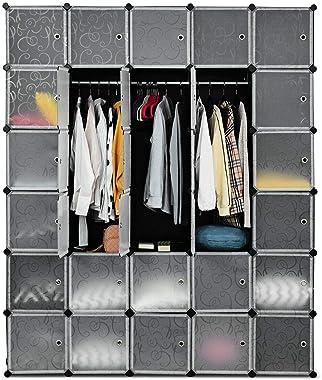 Moralty DIY 30 Cube Portable Wardrob DIY WardrobeStorage Organizer Clothes Doors W Bedroom US 86 Ample Space Armoire Home Han