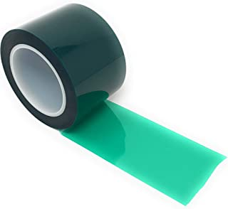 APT, (3'' X 72 Yds, Green),2 Mil Polyester Tape with Silicone Adhesive, PET, Mylar Tape, high Temperature Tape, 3.5 mil Thickness, Powder Coating, E-Coating, Anodizing, high Temp Masking (3 inch)