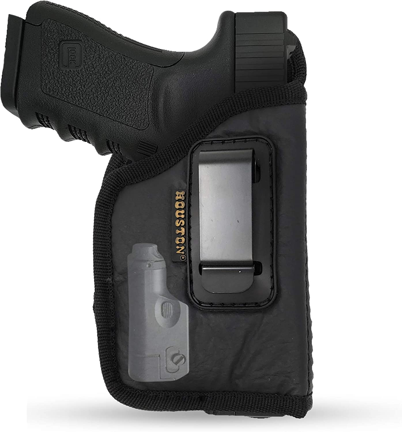 IWB Gun Holster by Houston - ECO Leather Concealment Inside The Waistband
