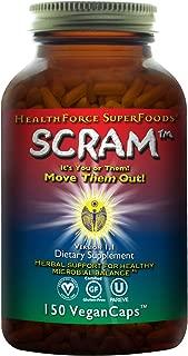HealthForce SuperFoods Scram - 150 Vegan Capsules - All Natural Internal Parasite Cleanse, Anti Fungal, Anti Yeast - Non GMO, Gluten Free - 15 Servings