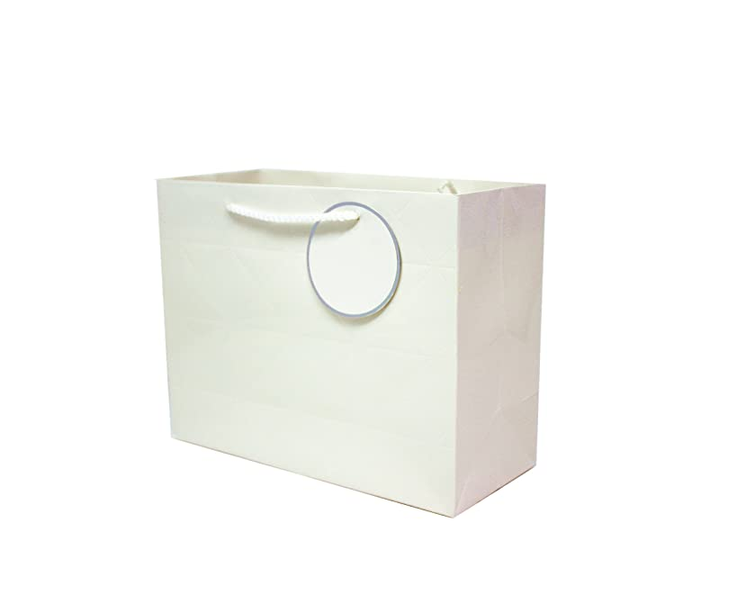 Singular Metallizing Rhombus Embossed Paper Bag (Set of 12) (4 Color Avaliable) (Medium Size (12.2