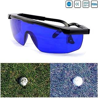 blue glasses to find golf balls