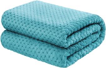 "5 STARS UNITED Baby Blanket for Girls and Boys - Blue 40""x50"" - Premium Lightweight Fleece - Soft, Plush, Warm"