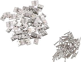 SSB-JIAJUPJ, 50st 8 * 10mm messing kastdeur bagage mini scharnier meubelbeslag kleine decoratieve kast deurbanden voor sie...