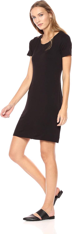 Daily Ritual Women's Jersey Short-Sleeve Scoop Neck T-Shirt Dress