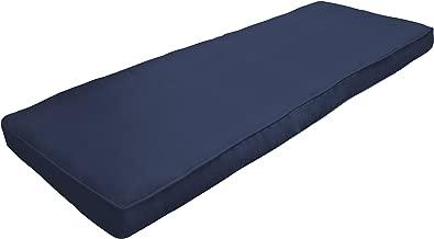 Amazon Custom Furnishings x Easy Way Products 20747 Custom Zipped Double Piped Bench Cushion, 47