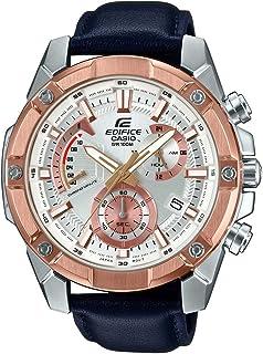 Casio Men's White Dial Leather Band Watch - EFR559GL-7AV