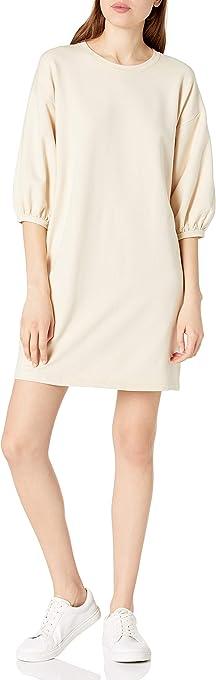 The Drop Women's Estelle Puff Sleeve French Terry Sweatshirt Mini Dress