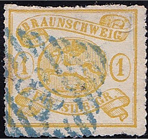 Goldhahn BraunschWeiß Nr. 14 A gestempelt geprüft Briefmarken für Sammler