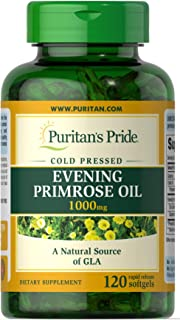 Puritans Pride Evening Primrose Oil 1000 Mg with Gla, 120 Count