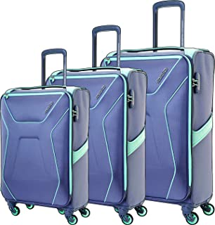 American Tourister Luggage Trolley Bags 3 Pcs, Light Grey, Unisex