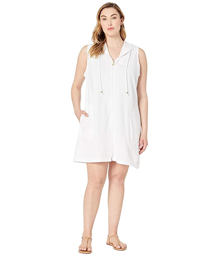 DOTTI Plus Size Flamingo Tango Dress Cover-Up (White) Women