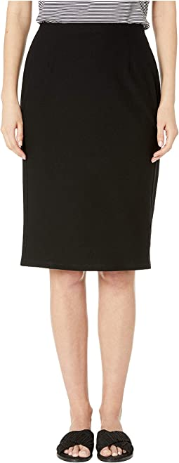 Washable Stretch Crepe Knee Length Pencil Skirt