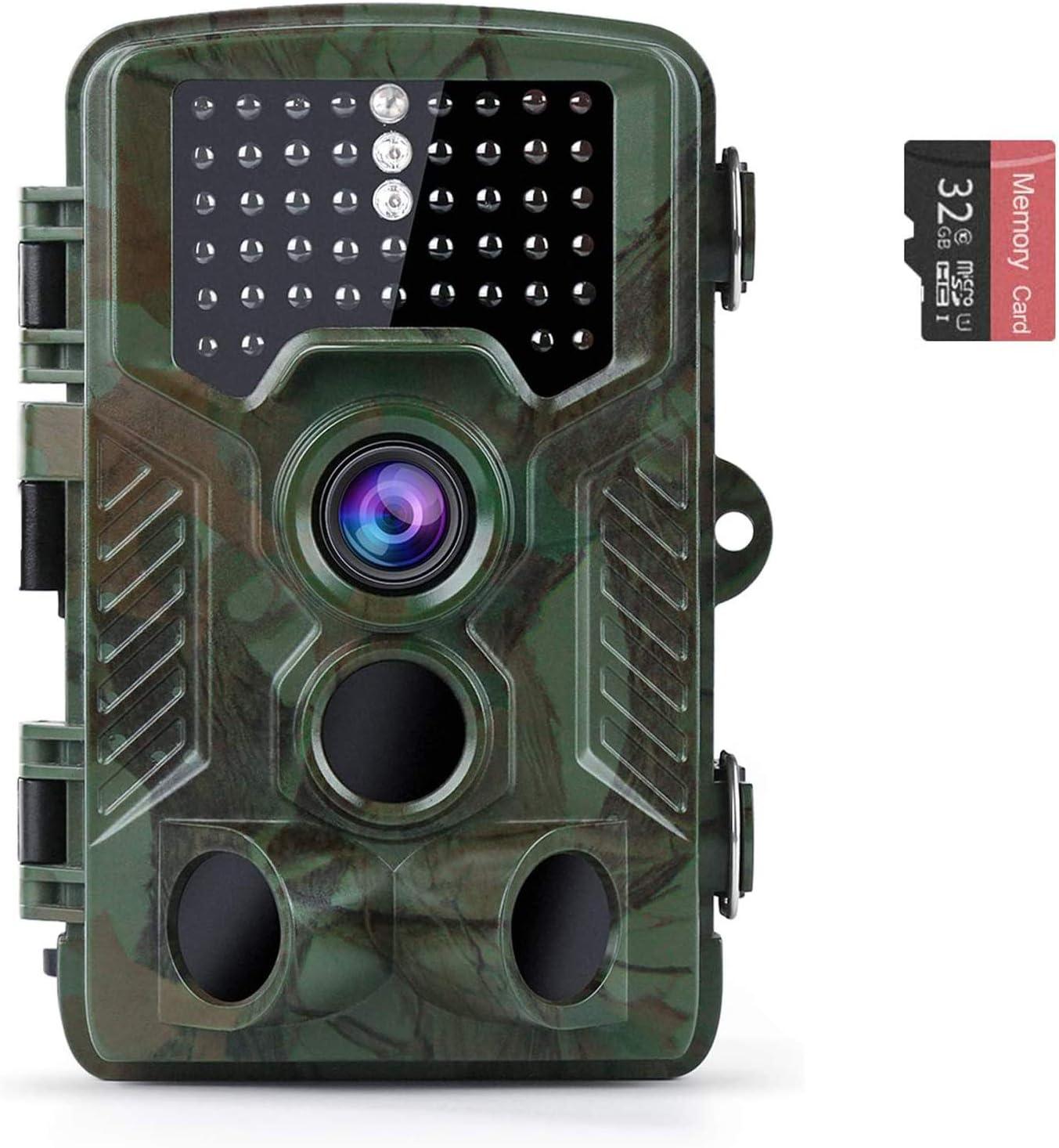 Coolife IP67 16MP 1080P 32GB Trail Camera $39.99 Coupon