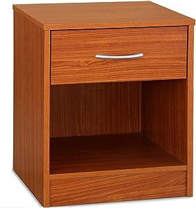 Deuba Comodino con cassetto | colore ciliegio | Design elegante