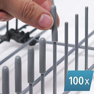 Las Tapas ORIGINALES de Silicona para Lavavajillas (Gris, juego de 100) Por Smith's® - Protección contra Rasguños & Oxidación | Encaja en el 99.9% de los Modelos de Lavavajillas!