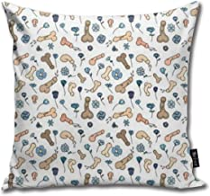 Penis Funny Square Throw Pillow Cases Cushion Cover for Bedroom Living Room Decorative 18X18 Inch