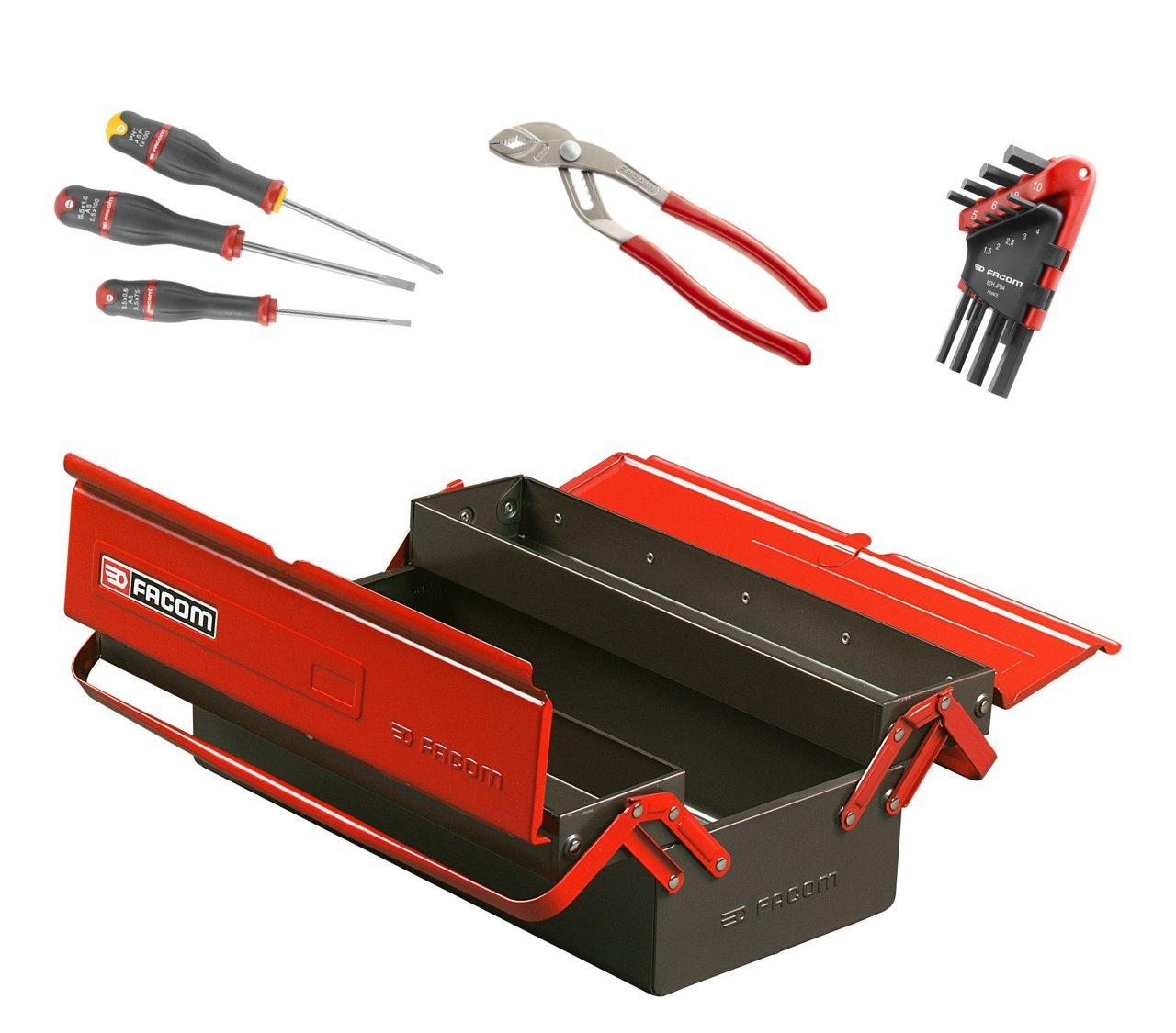 Facom BT.9cmwb caja de herramientas metálico 3 cases con 13 ...
