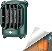 YCRD Mini Calefactor, Portatile Calefactor BañO, Calefactor Bajo Consumo, 500w Calefactor de Aire Caliente, 110-220v Ruido Bajo Control de Termostato para Sala Cuarto Oficin