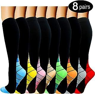 ACTINPUT Compression Socks Women & Men 15-20mmHg - Best Medical,Nursing,Hiking,Travel & Flight Socks-Running & Fitness