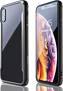iPhone X Case   iPhone Xs Case   Shockproof   12ft. Drop Tested   Carbon Fiber Case   Wireless Charging   Lightweight   Scratch Resistant   Compatible with Apple iPhone X/Xs - Black