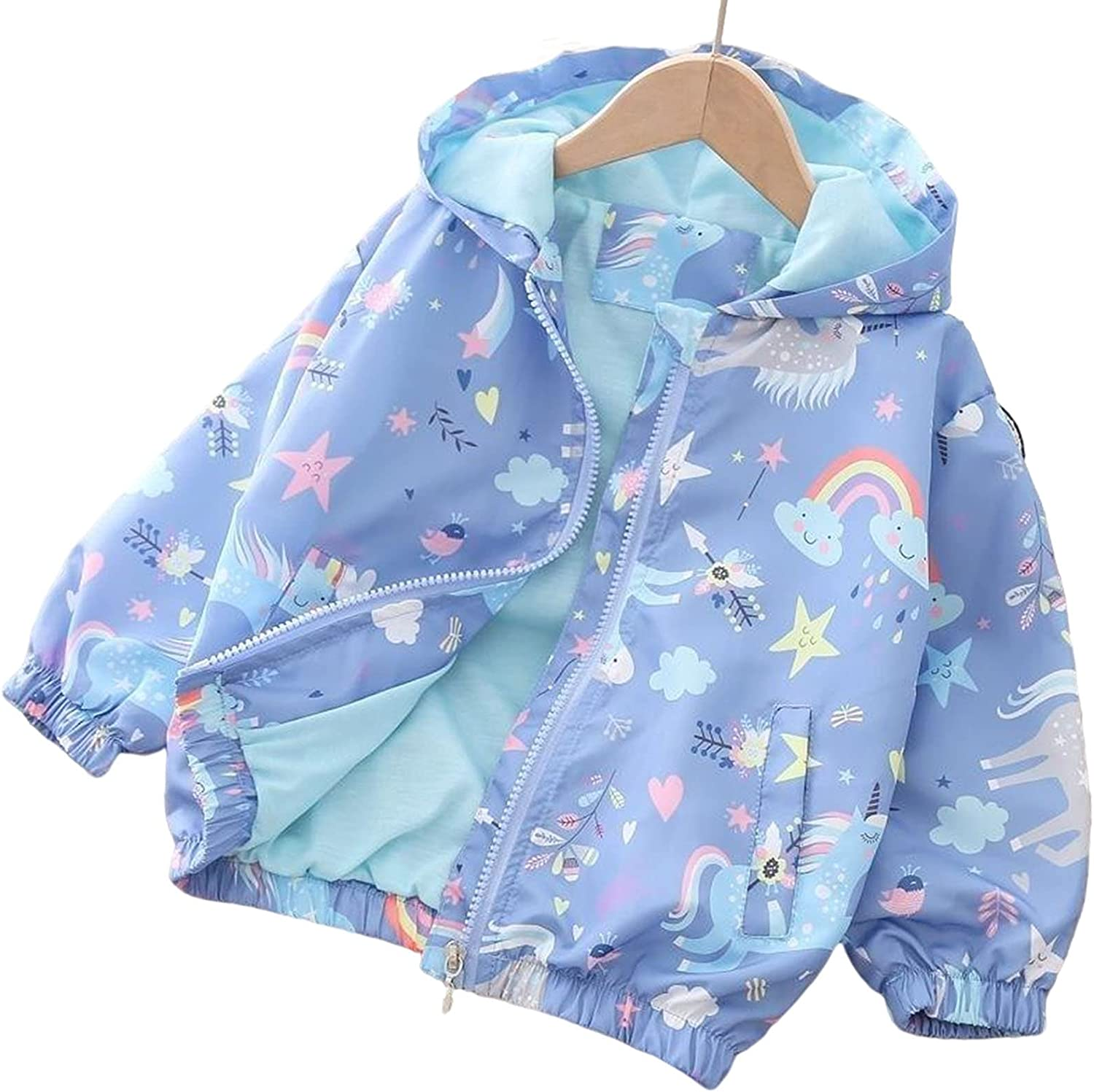 Toddler In a popularity Fall Jackets Girls Unicorn Spring Cheap super special price Outerwear Windbreaker