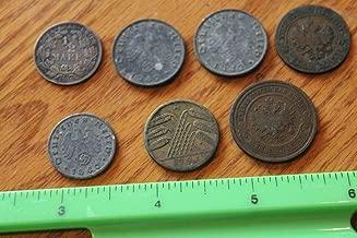 Coin Lot Russian Empire 1901 Deutsches Reich 1918 1/2 Mark 1940 1942 German