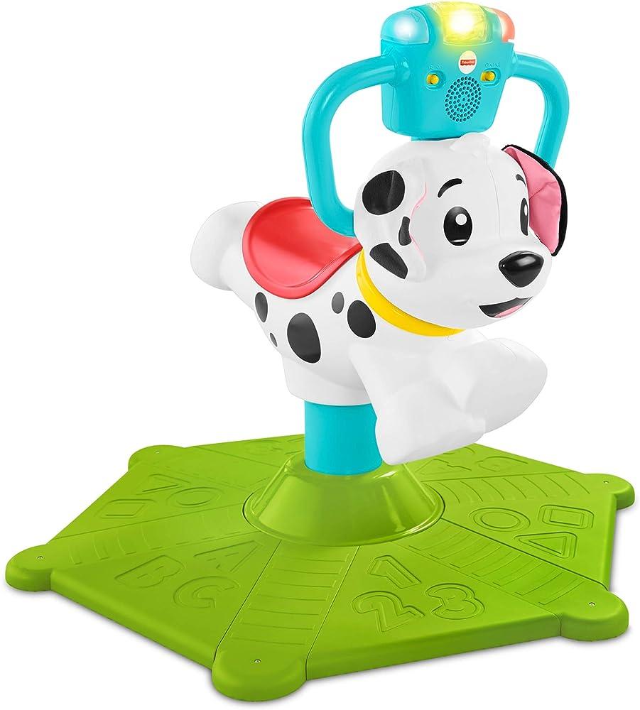 Fisher-price- cagnolino saltella e gira, insegna numeri, colori e tanto altro giocattolo educativo per bambini GHY07