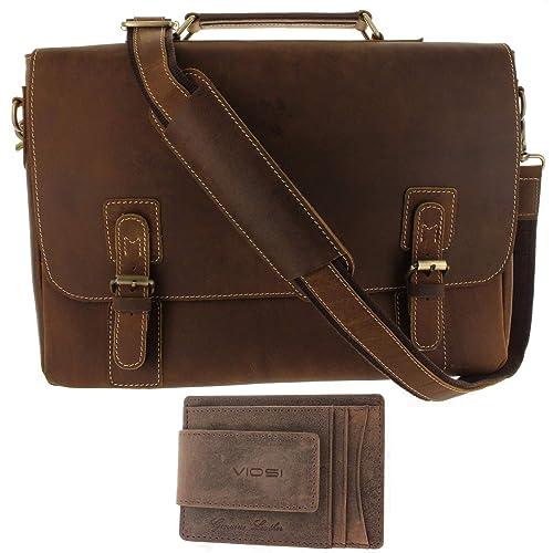 643562aab Leather Messenger Bag for Men, Shoulder Bag Straps Included, Quality  Briefcases for Men Holds