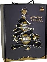 Riffelmacher & Weinberger 26253 Christmas Glass Baubles Set of 24 Champagne 12 x Matt 12 x Glossy Diameter 6 cm PVC Free P...