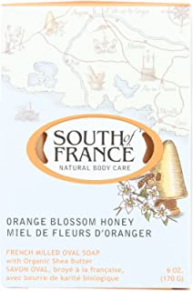 South Of France Bar Soap - Orange Blossom Honey - Natural Body Care - 6 oz (Pack of 4)