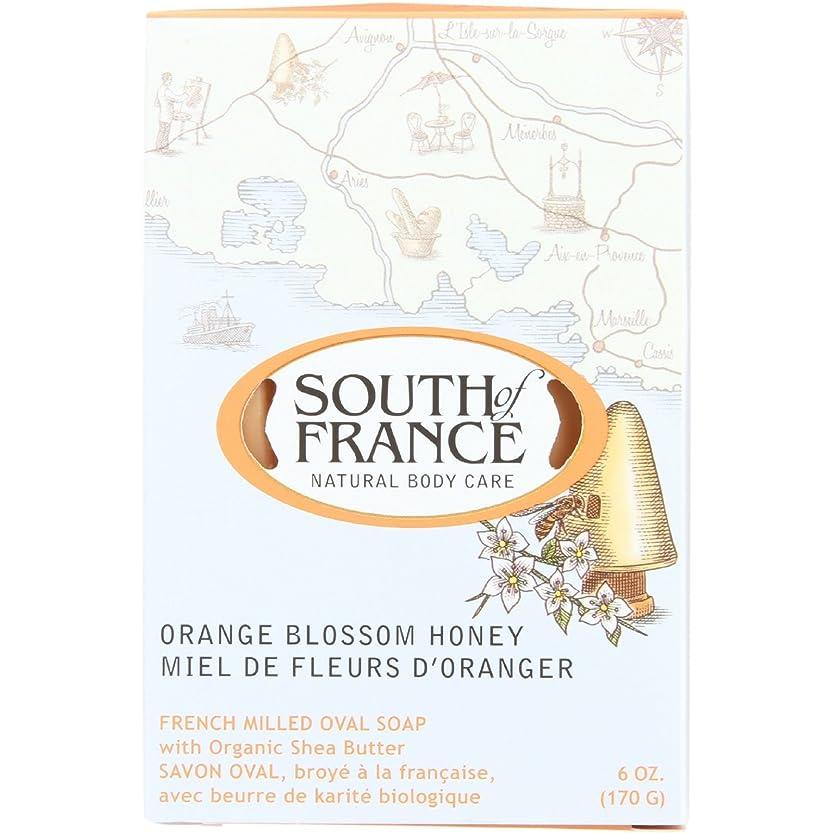 クモ郵便局盲目South of France - フランスの製粉された野菜棒石鹸のオレンジ花の蜂蜜 - 6ポンド