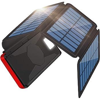 「Becharming 新登場ソーラーチャージャーモバイルバッテリー」ソーラーチャージャー モバイルバッテリー 大容量 268000mAh 折り畳み式充電器 PSE 認証済 4枚ソーラーパネル付き SOSモード 高輝度LEDライト搭載 太陽光とUSBケーブルで充電でき 地震/災害/旅行/出張など場合に大活躍
