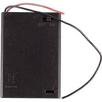 3 x AA batteria Holder Nero Con Porta 25cm pacco da 10