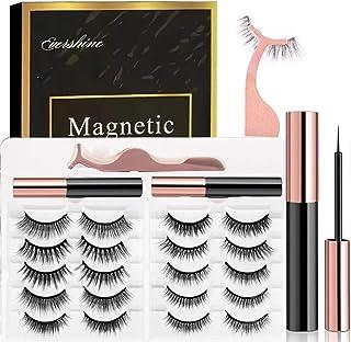 Magnetic Eyelashes Kit Magnetic Eyeliner 3D and 5D different Lengths&Densities Magnetic Eyelashes Magnetic Lashliner For U...