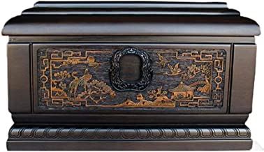 JIADUOBAO-urn Urn for Human Ashes, Cremation Urn Woodcarving Craftsmanship Natural Landscape Pattern Fine Texture Also Has...